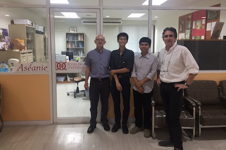 From left to right: Jacques Leider, Surakarn Thoesomboon, Wisitthisak Sattaphan and Christophe Pottier