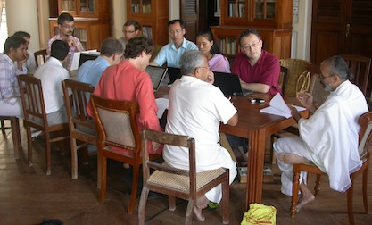 Professor Manidravida Sastrigal presides over the workshop