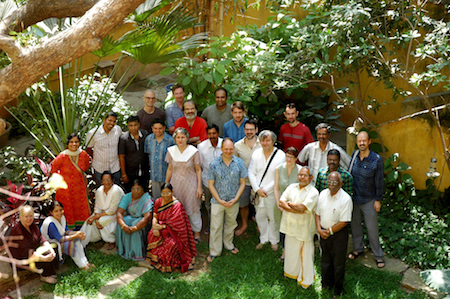 Participants at the Workshop in the garden of 19, Dumas Street