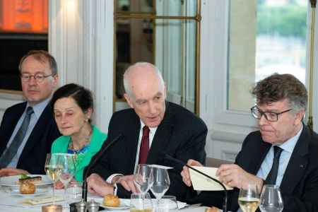 From left to right: Christophe Marquet, Marianne Bastid-Bruguière, Franciscus Verellen and Thierry de Montbrial, président de l'IFRI -©MikeChevreuil