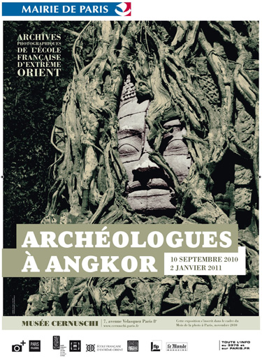 Archaeologists at Angkor; EFEO photographic archives