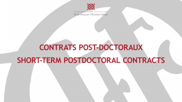 Contrats post-doctoraux EFEO 2022
