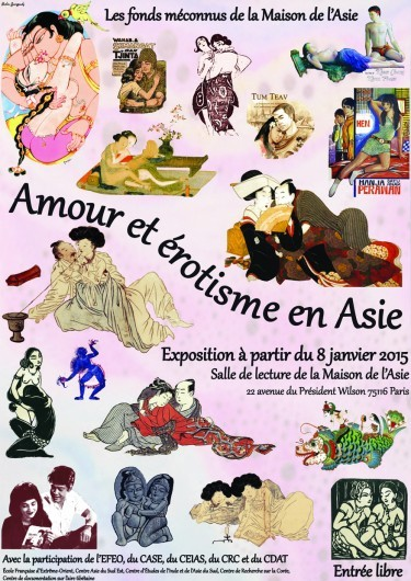 Exhibition on the unsung collections of the Maison de l'Asie: Amour et érotisme en Asie [Love and eroticism in Asia]