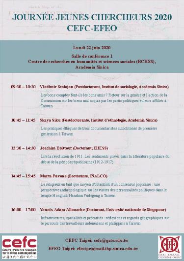 Journée jeunes chercheurs CEFC-EFEO 2020