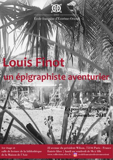 Exhibition ''Louis Finot: un épigraphiste aventurier''